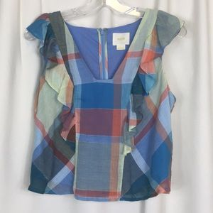 Anthropologie, Maeve, Ruffle top, size 4, EUC.
